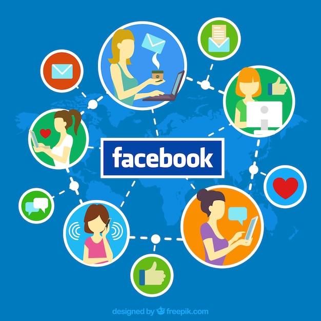 Facebookのソーシャルメディア 無料ベクター