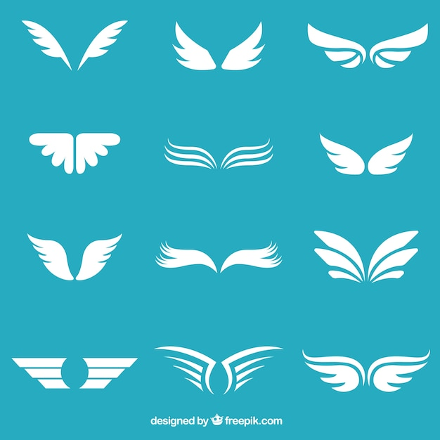 ホワイト翼コレクション Premiumベクター