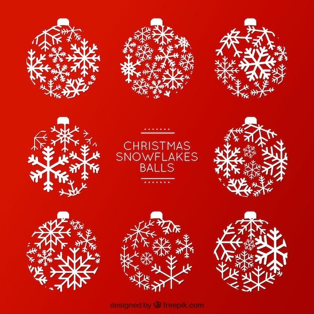 クリスマススノーフレークボール 無料ベクター