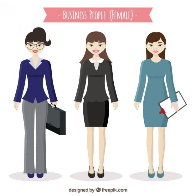 女性のビジネスの人々 無料ベクター