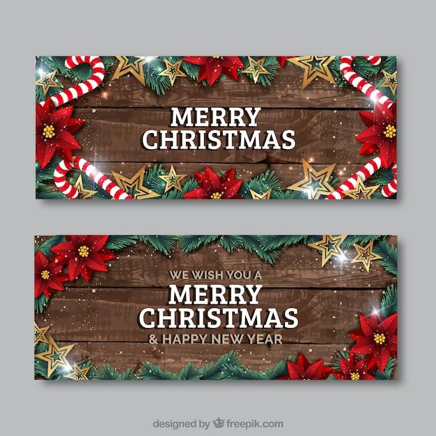 現実的なクリスマスフライヤー ベクター画像 | 無料ダウンロード