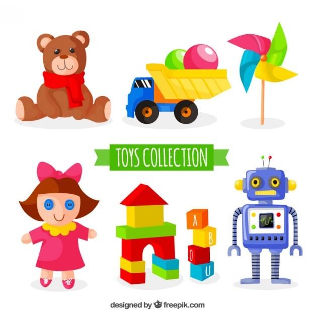 カラフルなおもちゃのコレクション Premiumベクター