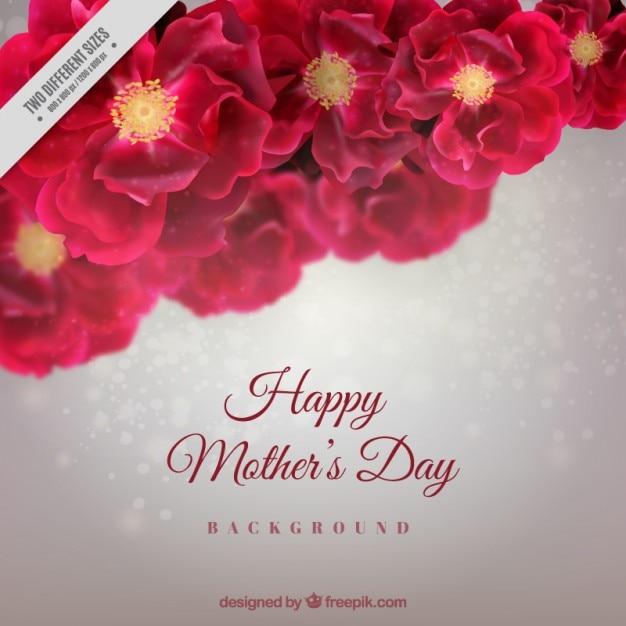 Цветочные матери день фон Бесплатные векторы