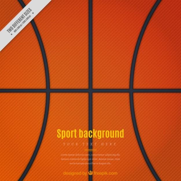 バスケットボール背景 無料ベクター