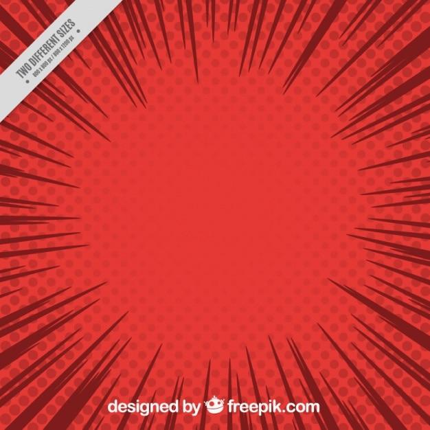 ポップアートスタイルで漫画赤い背景 無料ベクター