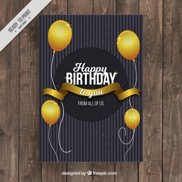 Открытки с днем рождения элегантные 49