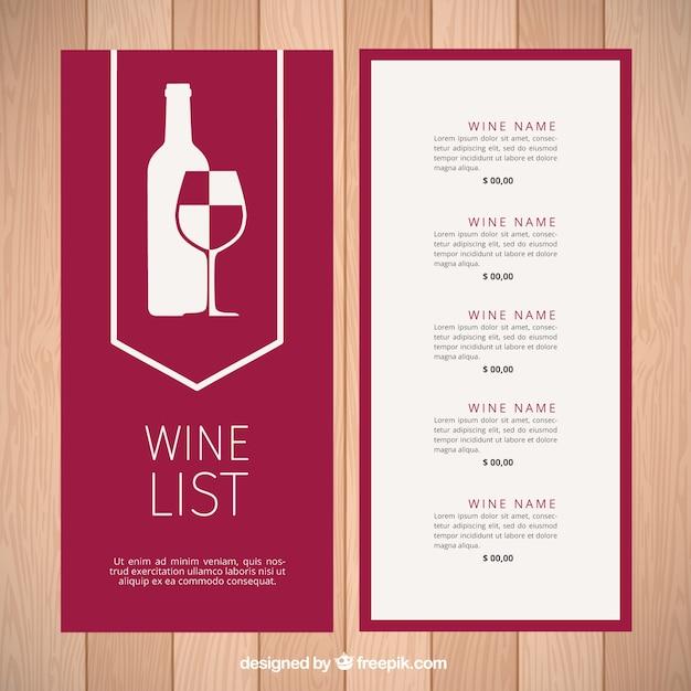 Скачать шаблон винной карты