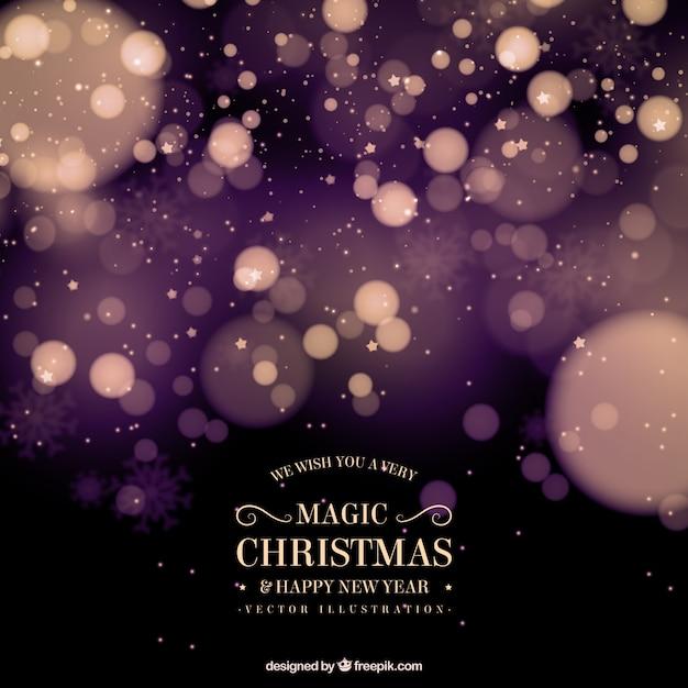ボケ効果の抽象的なクリスマス背景 無料ベクター