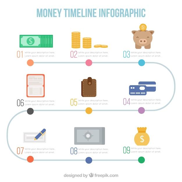 ビジネス要素を持つインフォグラフィック 無料ベクター