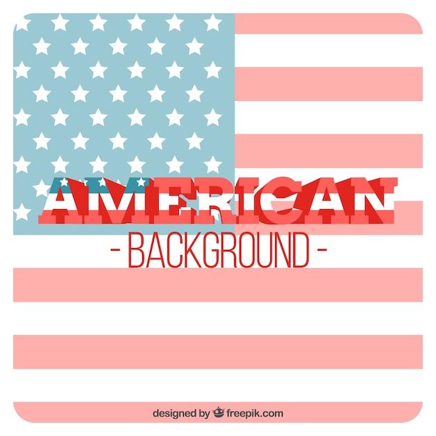 アメリカの旗の背景 無料ベクター