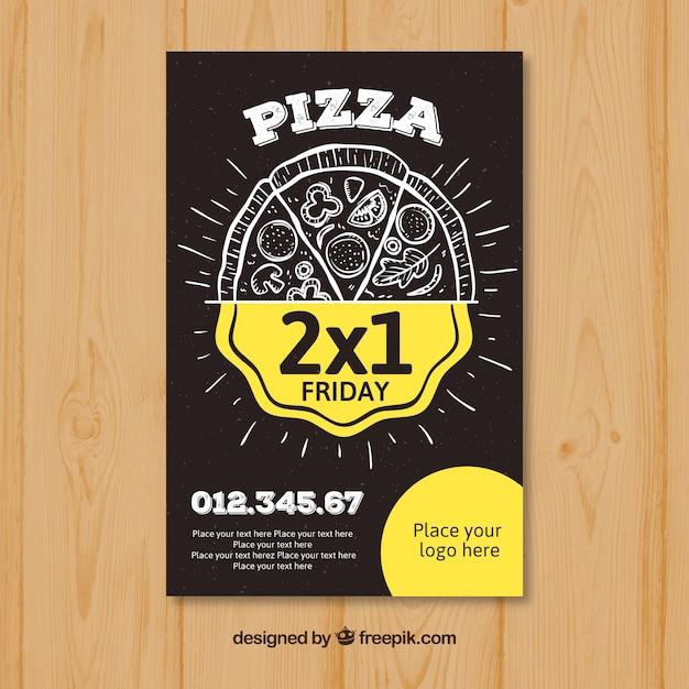 ピザ提供チラシ 無料ベクター