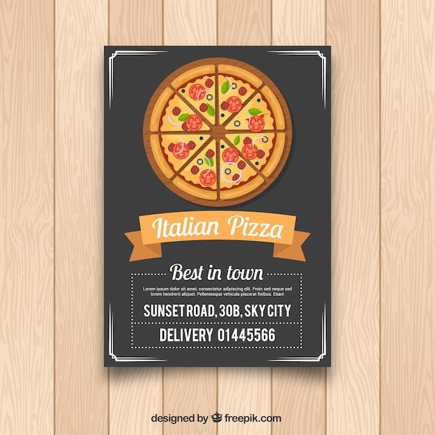 イタリアのピザフライヤー 無料ベクター