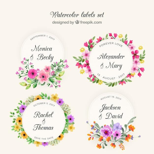 Коллекция цветочных венков Бесплатные векторы