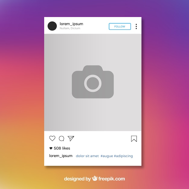 Instagram投稿テンプレート 無料ベクター
