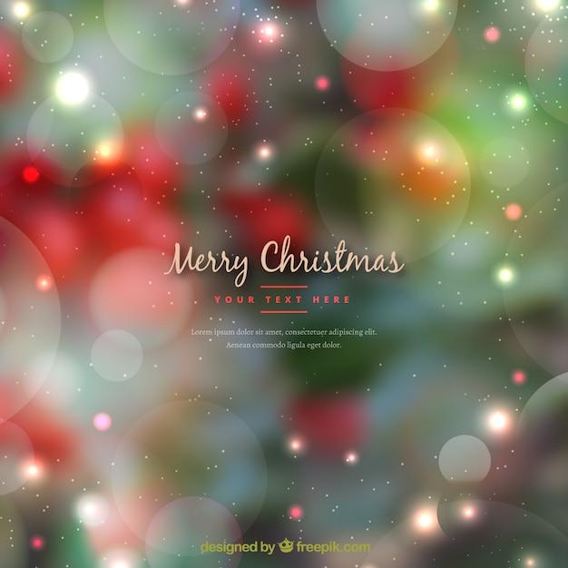 緑と赤のクリスマスの背景をぼかした 無料ベクター