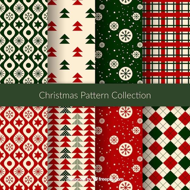 素敵なクリスマスのパターン 無料ベクター