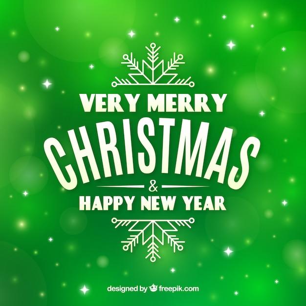 緑色の背景非常にメリークリスマス 無料ベクター