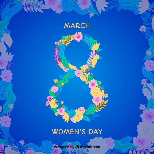 Фон голубой женщины день Бесплатные векторы