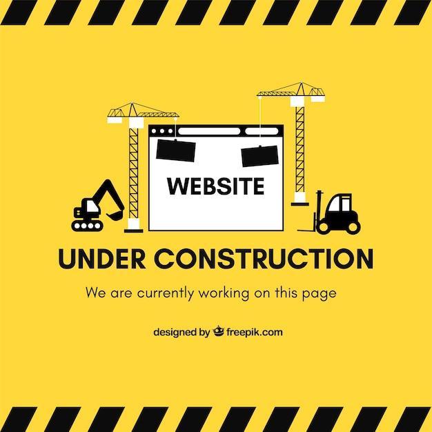 建設中ウェブテンプレートのフラットスタイル ベクター画像 無料