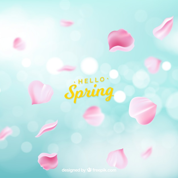 ぼんやりとした春の背景 無料ベクター