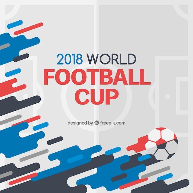 抽象的な形のワールドフットボールカップの背景 無料ベクター