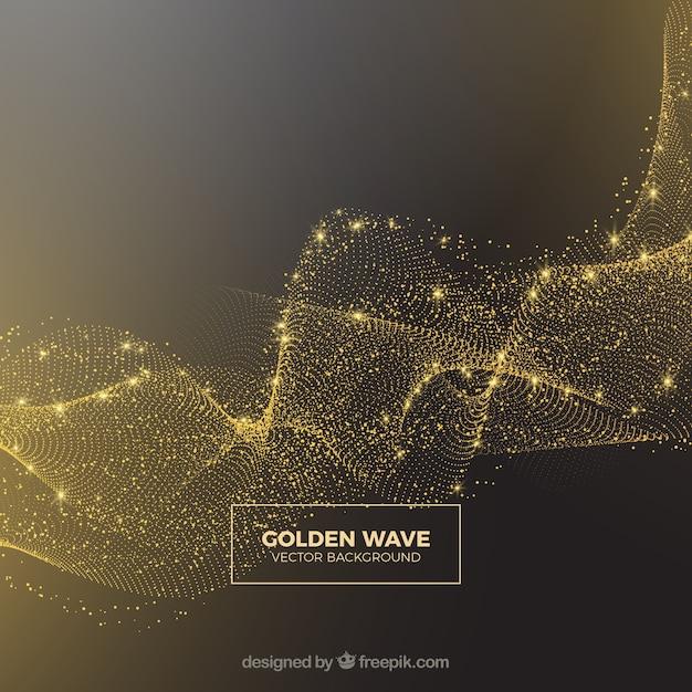 黄金の輝きの抽象的な背景 無料ベクター
