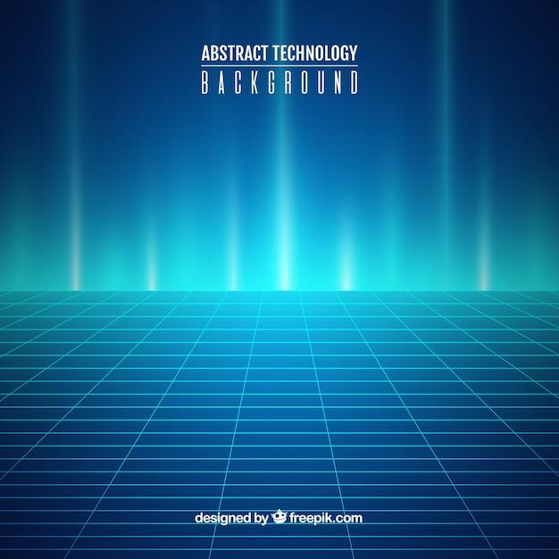 抽象スタイルの技術背景 無料ベクター