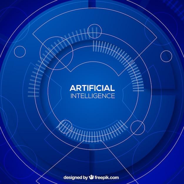 抽象スタイルの人工知能の背景 無料ベクター