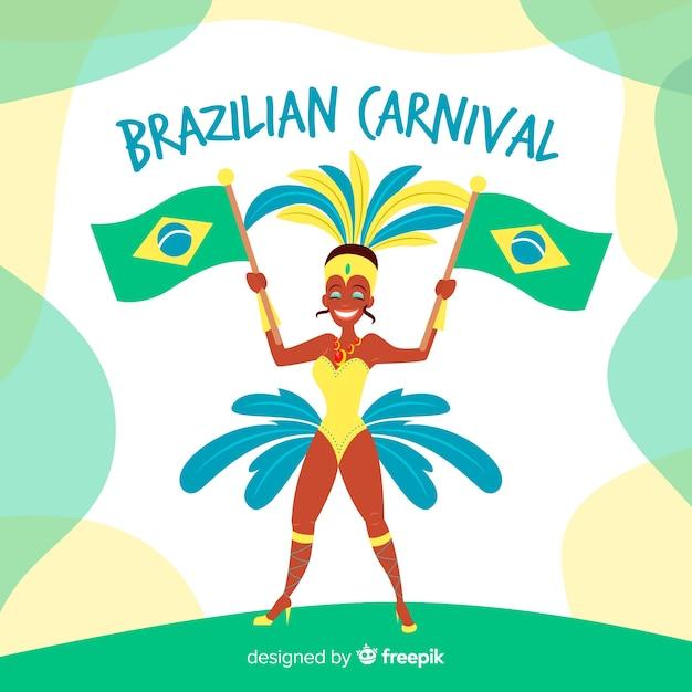 Бразильская коллекция элементов карнавала Бесплатные векторы