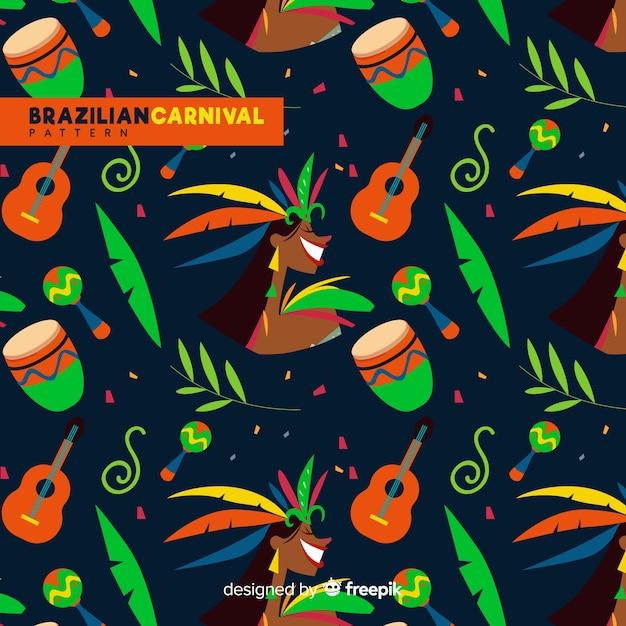 ブラジルのカーニバルパターン 無料ベクター