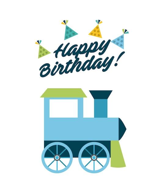 誕生日お祝いカード Premiumベクター