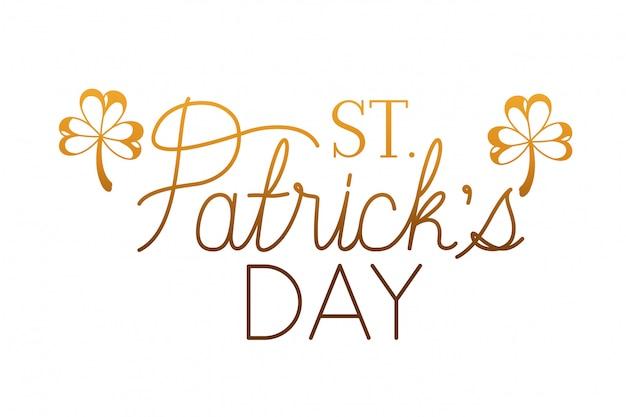 День Святого Патрика этикетка, изолированных значок Premium векторы