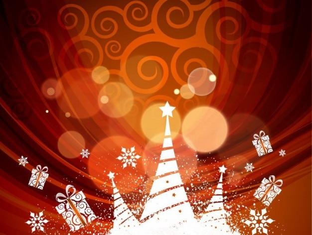 抽象的なクリスマス背景、ベクトル、イラスト 無料ベクター