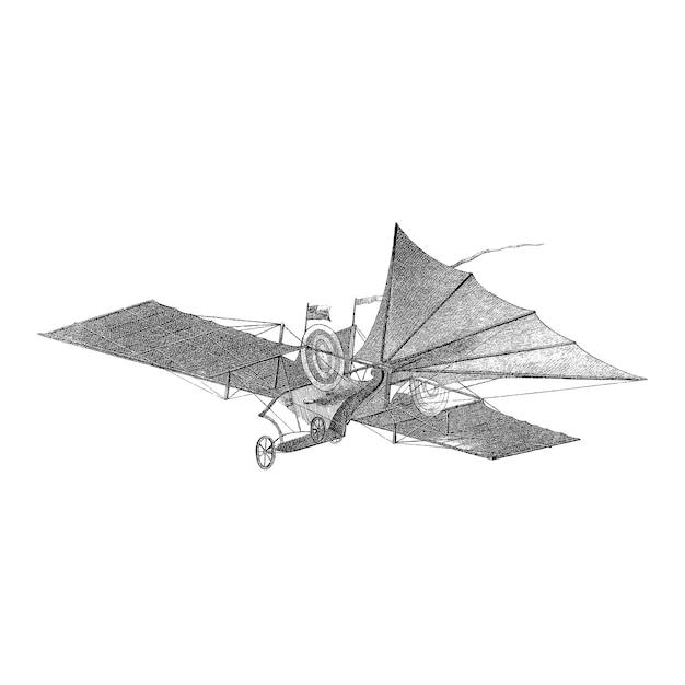 ビンテージ航空機のイラスト ベクター画像 無料ダウンロード