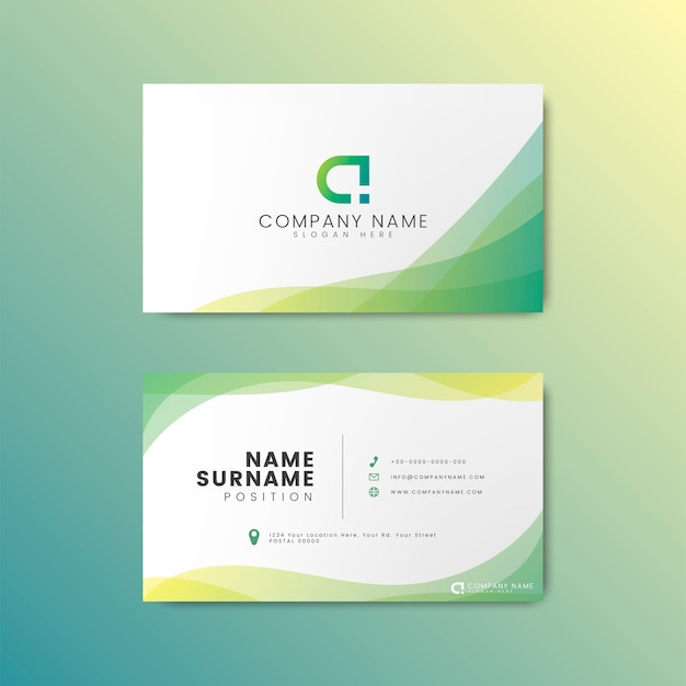 Минимальный дизайн современной визитной карточки Бесплатные векторы