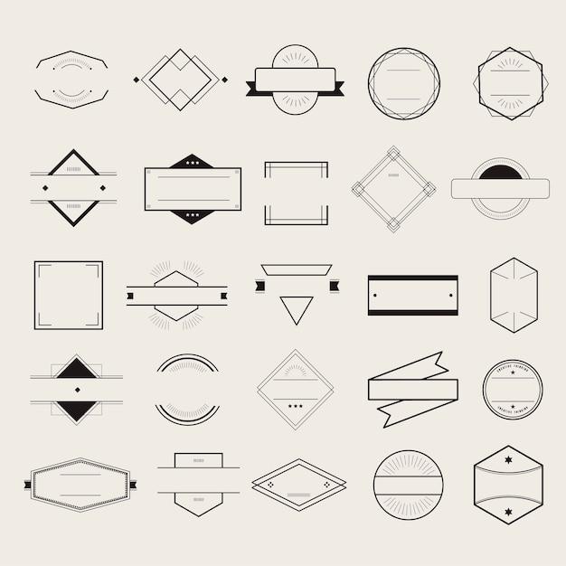 アイコンシンボルバッジロゴコレクションコンセプト 無料ベクター