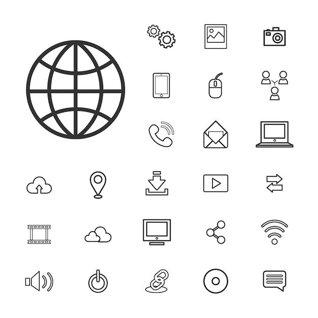 ベクトル接続デジタルテクノロジーのUIコンセプト 無料ベクター