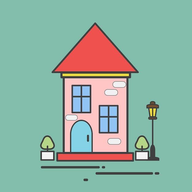 かわいい家のイラスト ベクター画像 無料ダウンロード