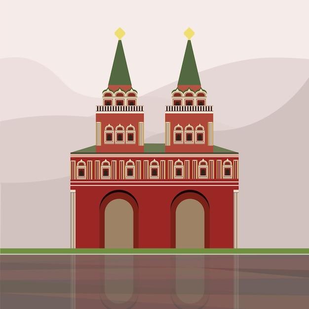 イベリアの門とチャペルのイラスト ベクター画像 無料ダウンロード