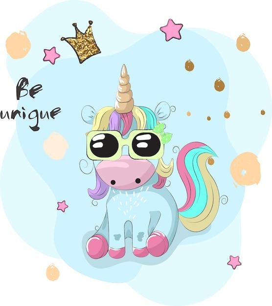 cute unicorn cartoon - 626×704