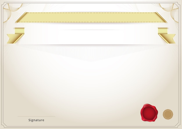 Пустой диплом и шаблон сертификата Вектор премиум Скачать Пустой диплом и шаблон сертификата premium векторы