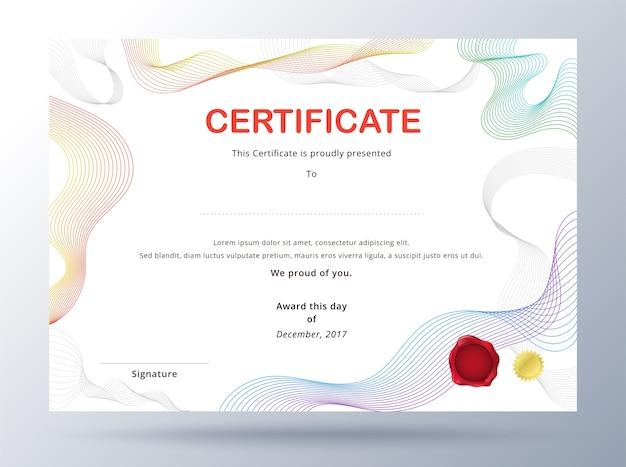 Шаблон сертификата диплома Вектор премиум Скачать Шаблон сертификата диплома premium векторы