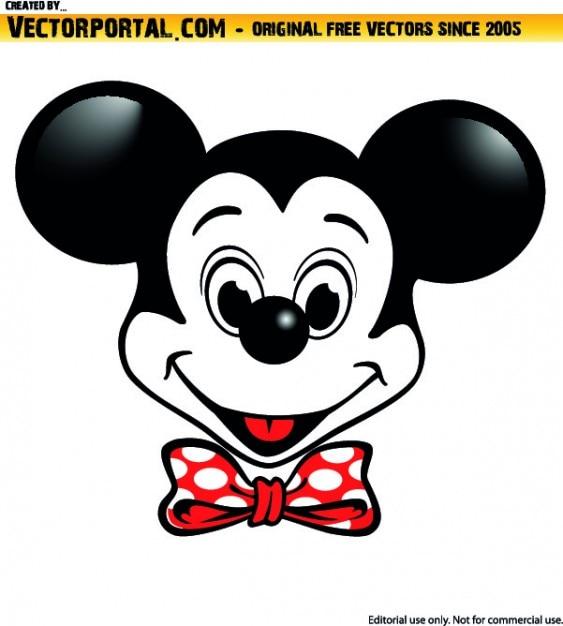 ミッキーマウスのキャラクターイラスト 無料ベクター