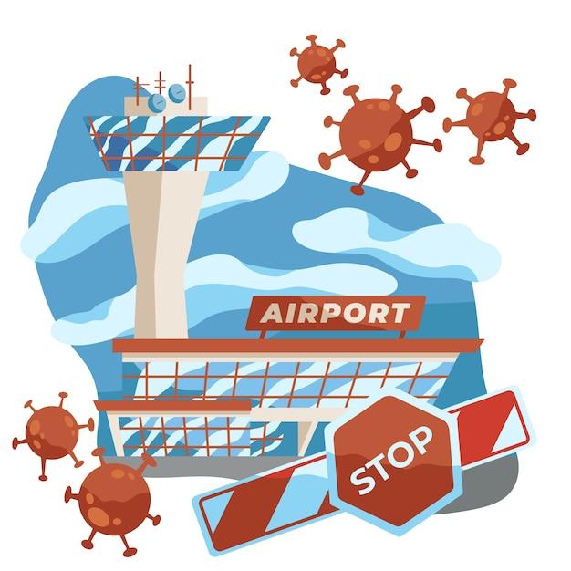 No travel because of pandemic virus Premium Vector