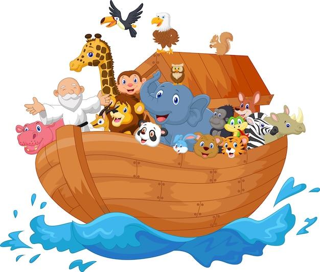 Noah ark cartoon Premium Vector