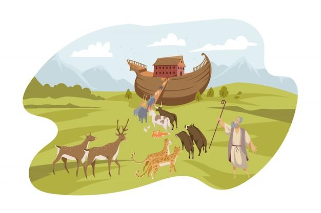 Noahs ark, bible concept Premium Vector