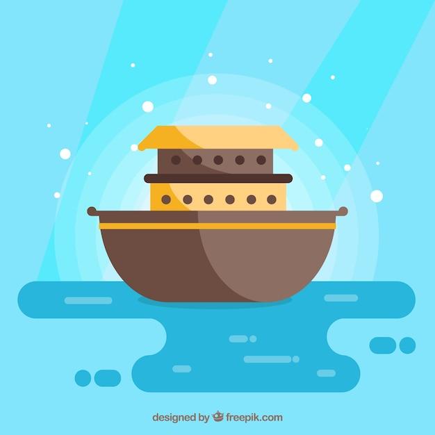 Noahs ark cartoon Premium Vector