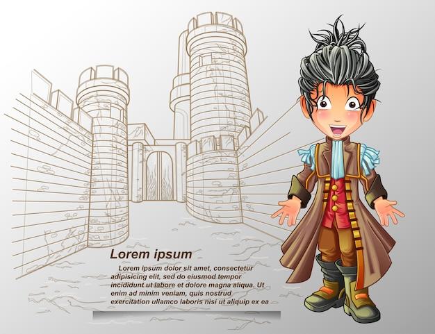 Nobleman character. Premium Vector