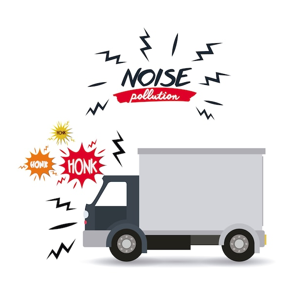 Noise pollution design Premium Vector