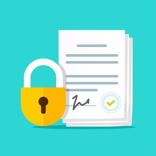 秘密保持契約の図、nda機密データの非開示 Premiumベクター